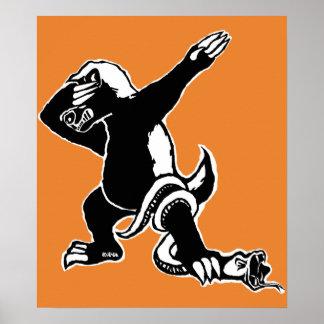 Dabbing Honey badger Poster