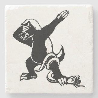 Dabbing Honey badger Stone Coaster