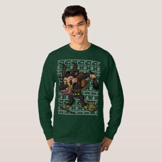 Dabbing Krampus Ugly Christmas Sweater