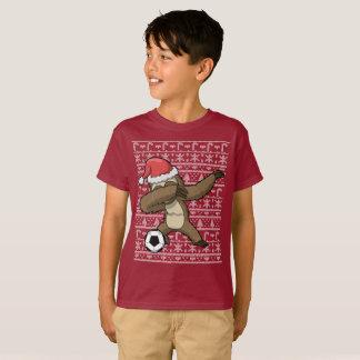 Dabbing Sloth Soccer Ugly Christmas Sweater Dab