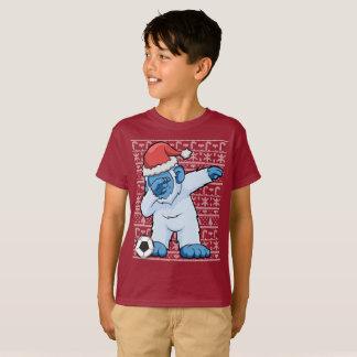 Dabbing Soccer Abominable Snowman Christmas T-Shirt