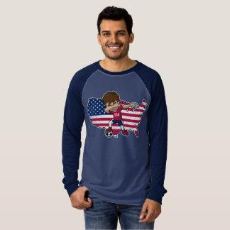Dabbing USA Soccer Player Dab American Flag T-Shirt
