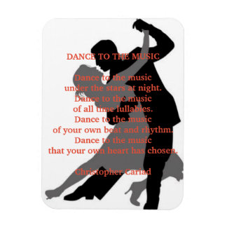 Dace to the Music Poem Magnet
