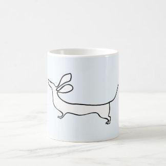 Dachs one-line illustration mug