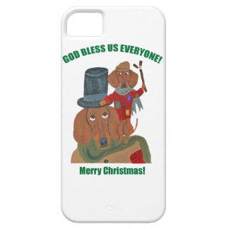 "Dachshund ""A Christmas Carol"" Tiny Tim iPhone 5 Cases"