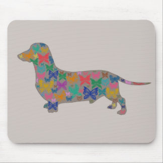 Dachshund and Butterfly Mouse Pad