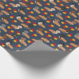 Dachshund and Fries Hot Dog funny gift wrap