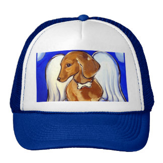 Dachshund Angel Cap