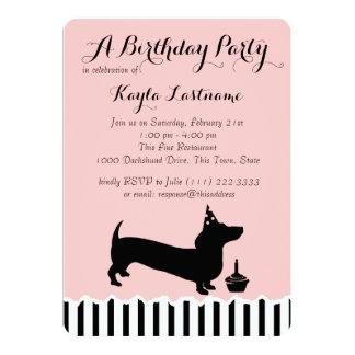 Dachshund Birthday 13 Cm X 18 Cm Invitation Card