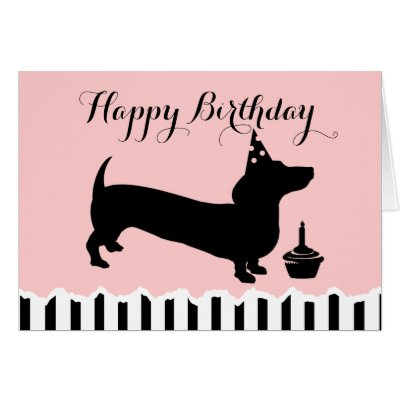 Dachshund Birthday Card Zazzle