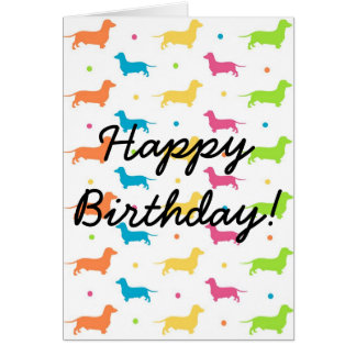 Dachshund Birthday Card - The Funky Sausage Range