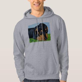 Dachshund Black and Tan Puppy Dog Sweatshirt