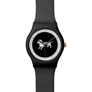 Dachshund Black and White Design Watch