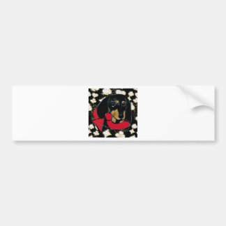 DACHSHUND BLING BUMPER STICKER