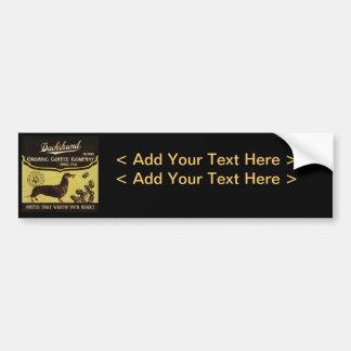 Dachshund Brand – Organic Coffee Company Bumper Sticker