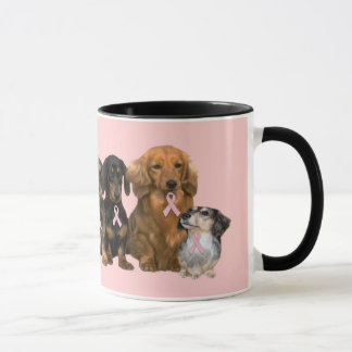 Dachshund Breast Cancer Mug