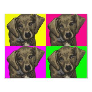 Dachshund Bright Dog Collage 11 Cm X 14 Cm Invitation Card