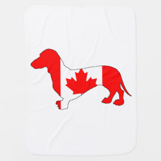Dachshund Canada Baby Blanket
