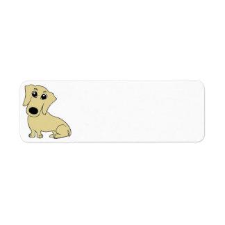 dachshund cartoon wheaton return address label