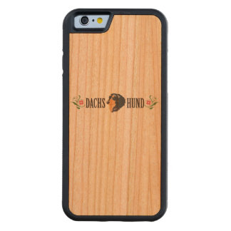 dachshund carved cherry iPhone 6 bumper case