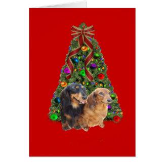 Dachshund Christmas Card Tree