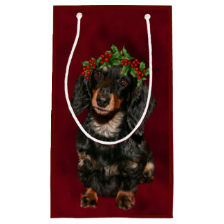 Dachshund Christmas Small Gift Bag