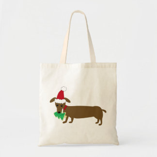 Dachshund Christmas Tote Bag