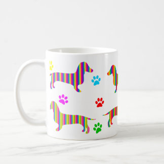 Dachshund Coffee Mug | Rainbow Dachshunds Paws
