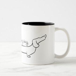 Dachshund Coffee Two-Tone Mug