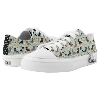 Dachshund coffees design low tops