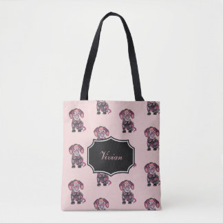 Dachshund Colors Tote Bag