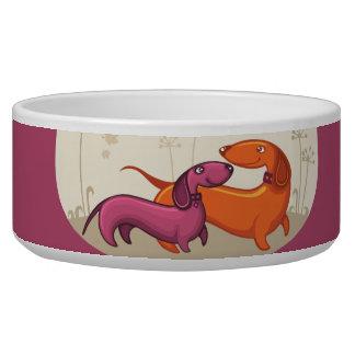 Dachshund Couple-Org/Pur Dog Water Bowls