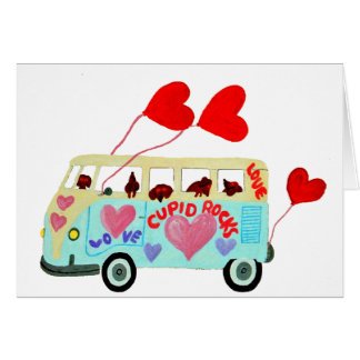 Dachshund Cupids In Their Valentine Love Mobile Card