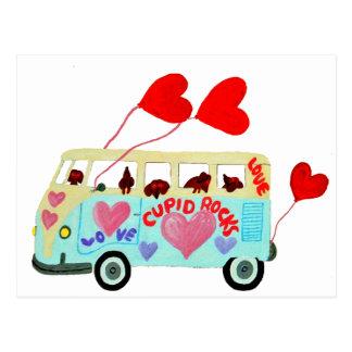 Dachshund Cupids In Their Valentine Love Mobile Postcard