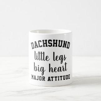 Dachshund/Custom Typography Coffee Mug