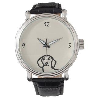 Dachshund Cute Dog Funny Sketch Wiener Stylish Watch