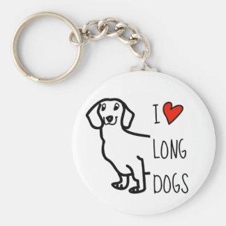 Dachshund Cute Dog Funny Wiener I Love Long Dogs Key Ring