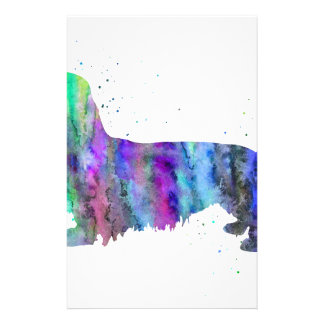Dachshund, Dachshund dog watercolor print, dog Stationery