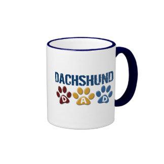 DACHSHUND Dad Paw Print 1 Ringer Mug