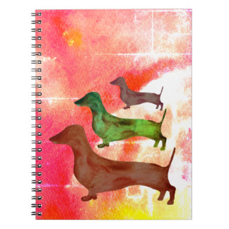 Dachshund Dog Abstract Art Illustration Notebook