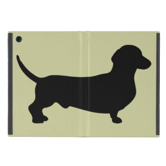 Dachshund dog black silhouette cute doxie iPad mini cover