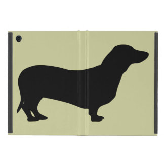 Dachshund dog black silhouette cute doxie iPad mini covers