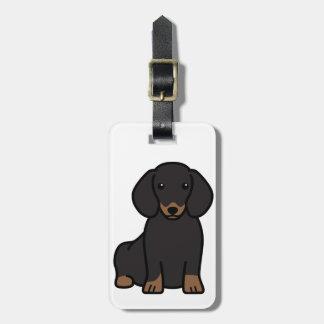 Dachshund Dog Cartoon Luggage Tag
