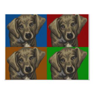 Dachshund Dog Dark Collage 11 Cm X 14 Cm Invitation Card