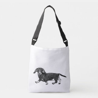 Dachshund Dog Design Bag, Double Sided, Medium Crossbody Bag