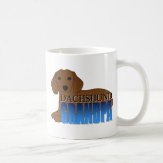 Dachshund Dog Grandpa Basic White Mug