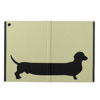 Dachshund dog silhouette funny cartoon wiener cover for iPad air