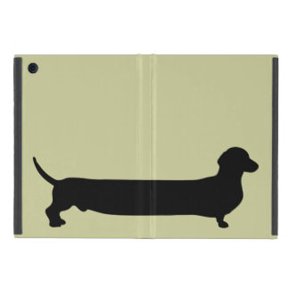Dachshund dog silhouette funny cartoon wiener iPad mini cases