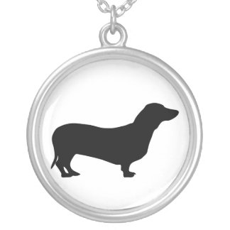 dachshund dog silhouette necklace