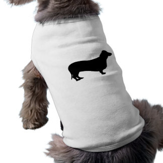 Dachshund dog silhouette pet clothing / t-shirt